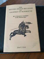 THE HISTORIA REGUM BRITTANIE OF GEOFFREY OF MONMOUTH, 2 BOOKS, 1989/91, JULIA C