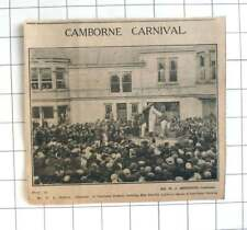 1933 Miss Dorothy Liddicoat Being Crowned Queen Of Camborne Carnival T Fiddick