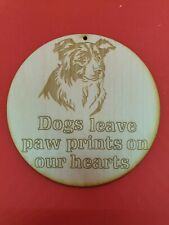 Border Collie Dog Memorial Plaque on 3mm Ply Wood Embellishment