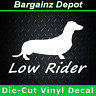 "Vinyl Decal... ""LOW RIDER"" .. Dachshund Doxie Wiener Dog Pet Car Laptop Sticker"