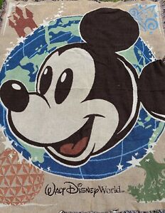 Mickey Mouse Walt Disney World Parks Tapestry Throw Blanket60x50 Epcot