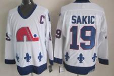 Quebec Nordiques White Jersey Joe Sakic M, L, XL, XXL