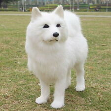 new lovely white dog toy cute simulation Samoyed doll gift about 25x8x24cm QW