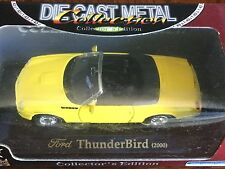 Yat Ming Die Cast Metal Collection Yellow Ford ThunderBird 2000 Convertible 1:43