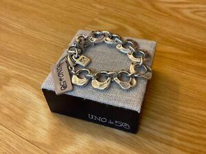 "NWT Uno de 50 Silver-plated Flat Link Shape Bracelet ""You Belong to Me"""