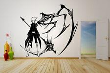 Wall Vinyl Sticker Decal Anime Manga 07-Ghost Man Boy Wing Scythe V026
