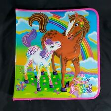 Vintage Lisa Frank Rainbow Horses Padded 3 Ring Zipper Binder Vintage 1990s