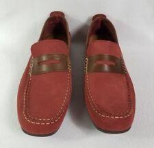 Men's FLORSHEIM Loafer Slip On Shoes Size 12 M Red Brown Leather Upper