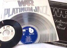 War 3 LP Lot - Platinum Jazz (Greatest Hits LP w/ Insert) + Deliver the Word VG