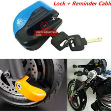 Metal Motobike Anti-theft Wheel Disc Brake Lock Alarming System Reminder Cable