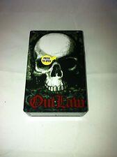 Outlaw Skull Hard Plastic Cigarette Case Kings Push Flip Up Top Nwt
