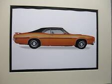 1970 Mercury Cyclone Spoiler  artist Auto Museum Full color artist Illustrated