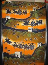 Batik (wax painting) fabric Great wall wall hanging (182 cm x 86 cm). RARE