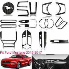 Vehicle Interior Carbon Fiber Stickers Graphics Decal For Ford Mustang 2015-2017