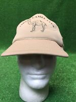 Vintage Virgin Camel Club Tan SnapBack Hat Cap Fast Free Shipping