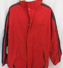 Nautica Orange & Blue Lightweight Jacket with Hood, Full Zip Front, Extra Large