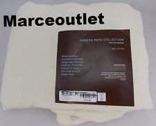 Hudson Park Collection Chevron Cotton TWIN Bed Blanket Ivory