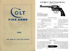 Colt 1930 Fire Arms Catalogue