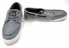 LaCoste Boat Shoes Keel Mov SPM Leather Gray/Brown Topsiders Size 9.5