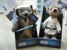 STAR WARS Sergei as Obi-Wan Kenobi & Aleksandr as Luke Skywalker Meerkat  BNIB
