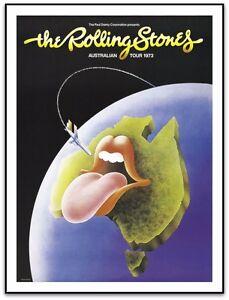 The Rolling Stones  Australia 1973 Tour Poster  Art Ian McCausland