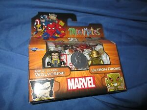 WOLVERINE/ULTRON DRONE Age of/Minimates Figure Set by Diamond~TOY R US Exclusive