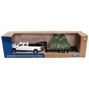 1/32 Ford F-350 Dually Pickup Truck w/ Trailer & Bales Ertl Tomy LP68114 46631