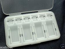 6 Micro SD & 4 SD Memory Card Holder Plastic Case Storage