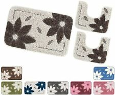 Set tappeti bagno 3 pezzi giro water soffice antiscivolo assorbente