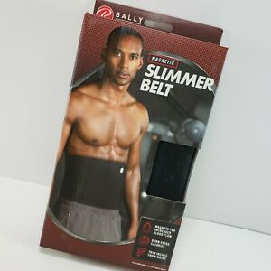 """Slimmer Belt Fits Waist up to 46"""" Bally Total Fitness Magnetic Black NEW NIB"""
