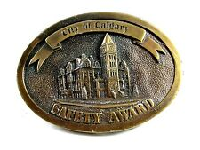 City Calgary Canada Safety Award PROOF Belt Buckle By Impress Advertising