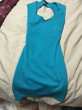 WOMANS CLOTHING DRESSES  TEAL COCTAIL DRESS SIZE SMALL BY FOREVER 21