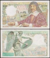 100 FRANCS 1944 FRANCE - Descartes - P101 (S.104)