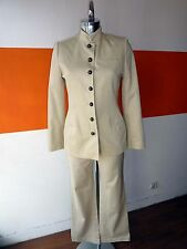 Ensemble Tailleur Pantalon Beige Coton  CAROLL Taille 36