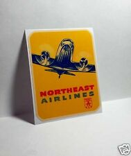 Northeast Airlines Vintage Style Decal / Vinyl Sticker, Luggage Label