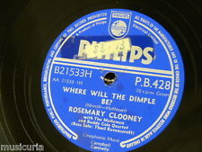 78rpm ROSEMARY CLOONEY where will the dimple be / brahms lullaby