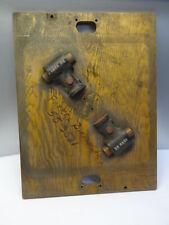 Naval Cannon Shaped Industrial Molds Vintage Wood Farrel Birmingham Unusual Gear