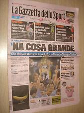 GAZZETTA DELLO SPORT 21/05/2012 SSC NAPOLI CALCIO WINNER COPPA ITALIA 2011/2012