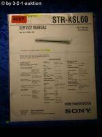 Sony Service Manual STR KSL60 Home Theater System (#4687)