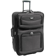 """Travel Select 29"""" Gray Amsterdam Rolling Luggage Expandable Wheeled Suitcase Bag"""