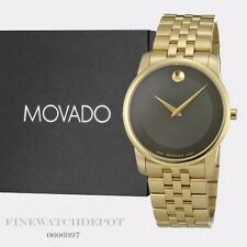 Authentic Movado Men's Museum Classic Gold Tone Stainless Steel Watch 0606997