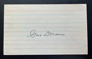 Gus Dorais Signed 3x5 Index Card Notre Dame All American Autograph JSA
