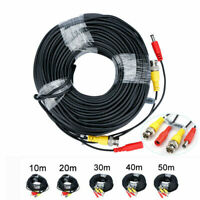 CCTV Camera DVR Recorder Video Cable DC Power Security Surveillance RCA BNC Cord