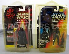 Ep1 Darth Maul (Tatooine) Commtech Chip & PotF Tie Fighter Pilot MiB '95 Kenner