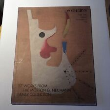 27 Works from the MORTON G NEUMANN COLLECTION. SOTHEBY'S New York catalogue 1998