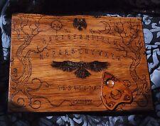 Real Oak Ouija Board spiritual talking board wood hand-sculpted spiritism occult