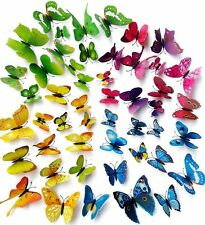 Multi-color 48pcs 3D Butterfly Wall Stickers Kids Room Home Decor Gifts Crafts