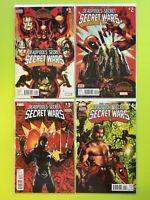 Secret Wars: Deadpool's Secret Secret Wars #1-4 Marvel NM 9.4