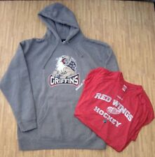 Grand Rapids Griffins Reebok AHL Hoodie & Detroit Red Wings Athletic Shirt XL