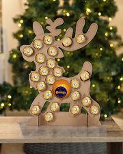 Wooden Advent Calendar Fits Ferrero Rocher & Chocolate Orange Christmas Reindeer